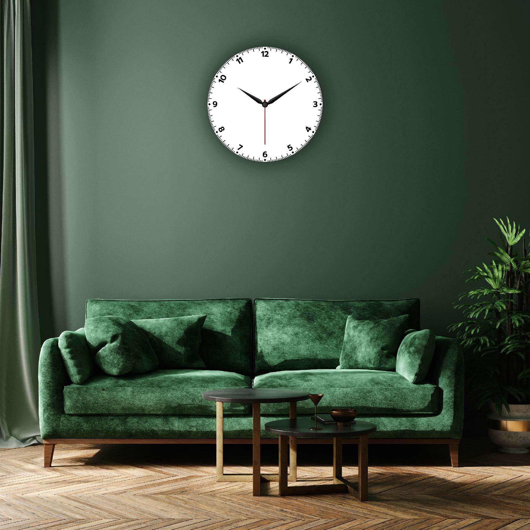 Dijital Baskılı Dekoratif Mdf Duvar Saati Model-100