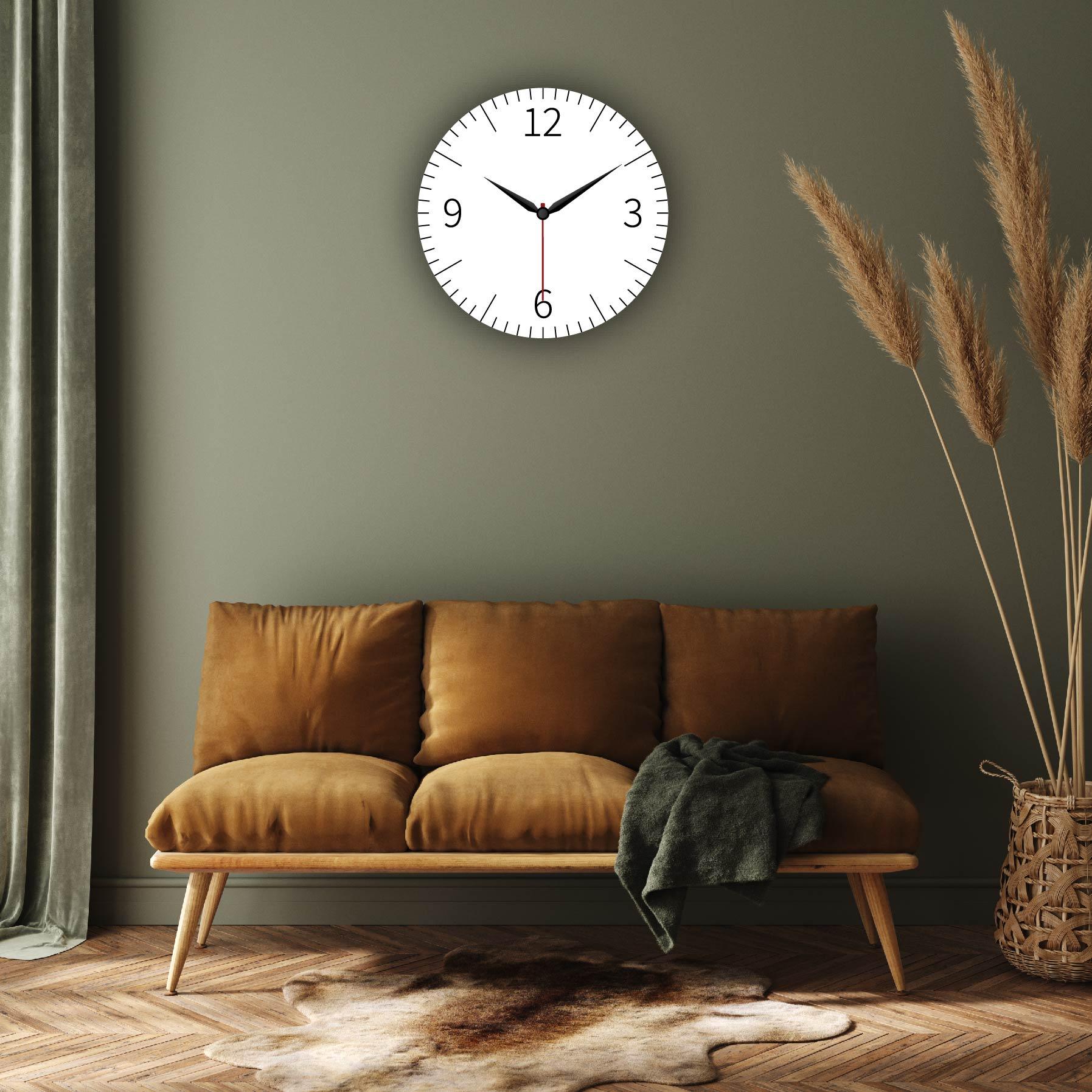Dijital Baskılı Dekoratif Mdf Duvar Saati Model-101