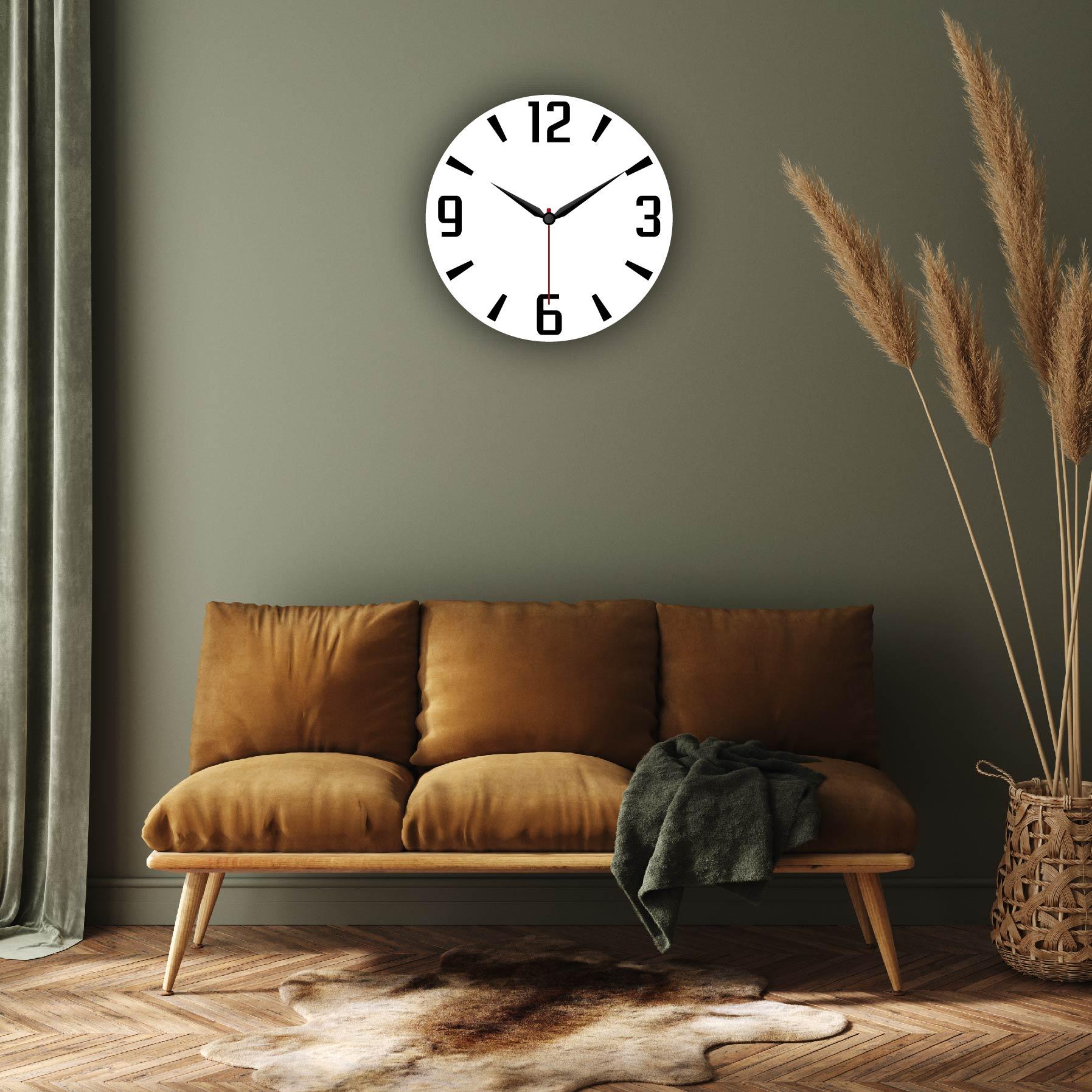 Dijital Baskılı Dekoratif Mdf Duvar Saati Model-102