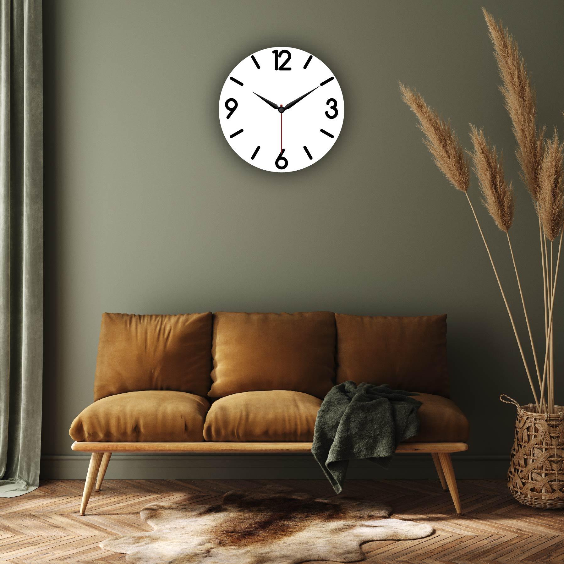 Dijital Baskılı Dekoratif Mdf Duvar Saati Model-103