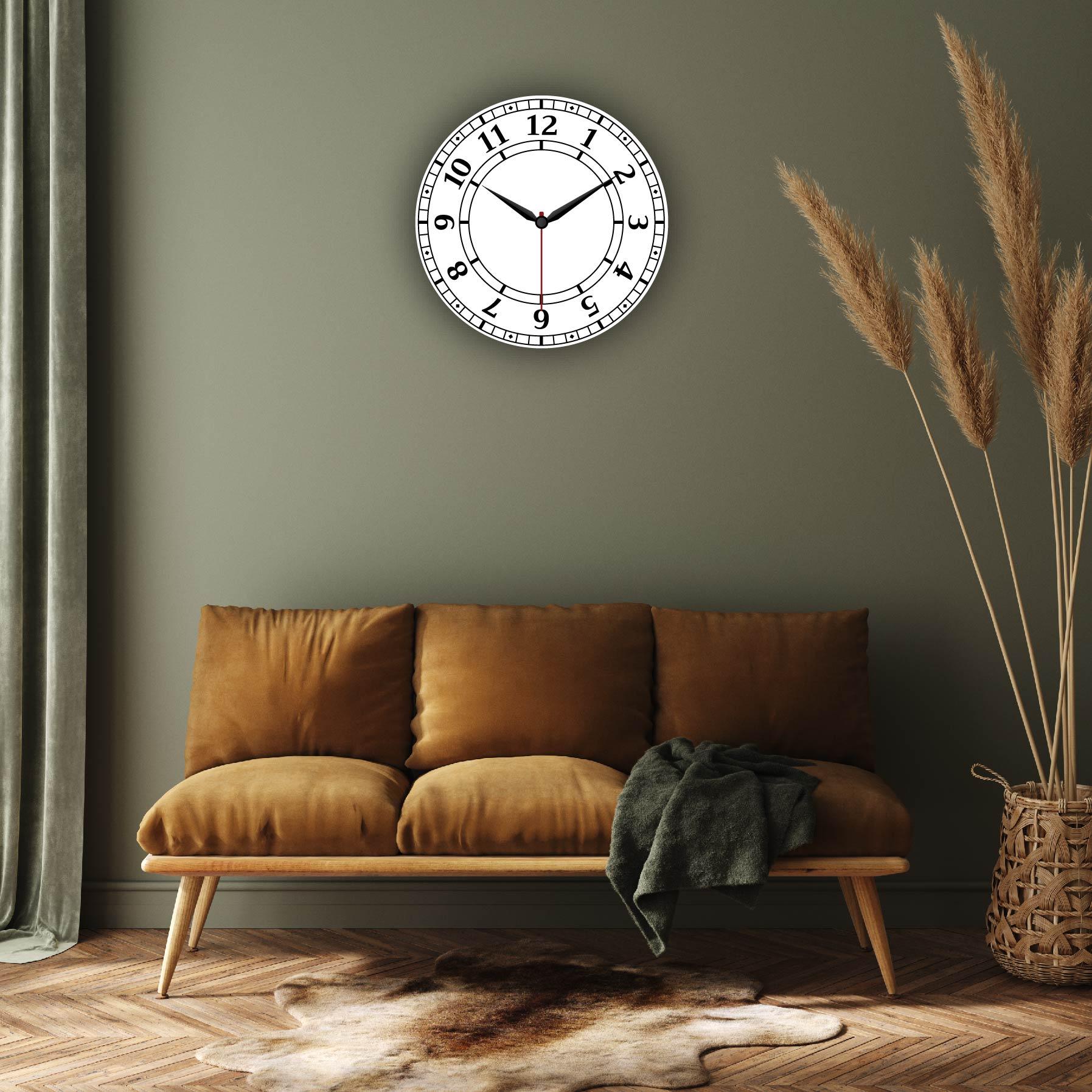 Dijital Baskılı Dekoratif Mdf Duvar Saati Model-104