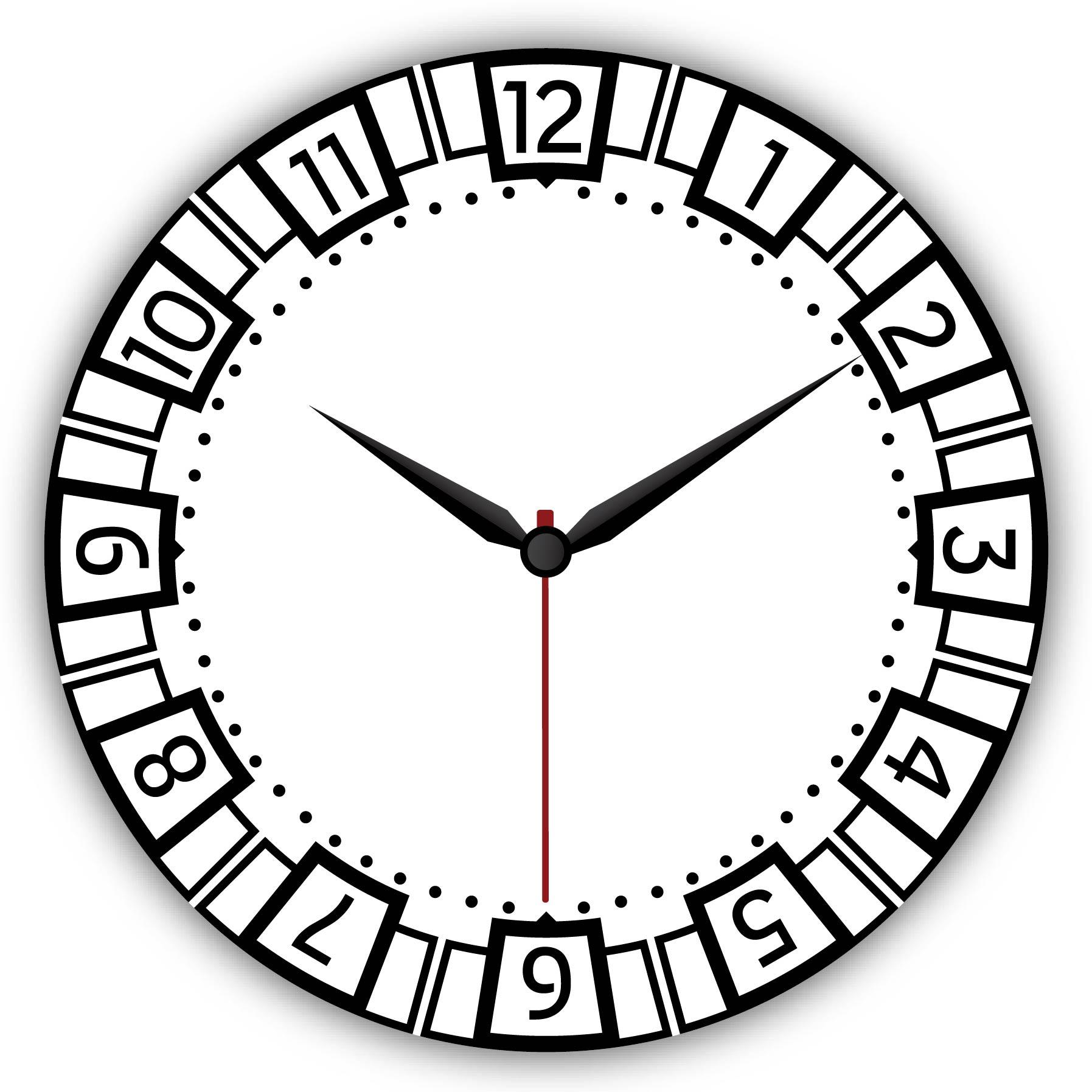 Dijital Baskılı Dekoratif Mdf Duvar Saati Model-105