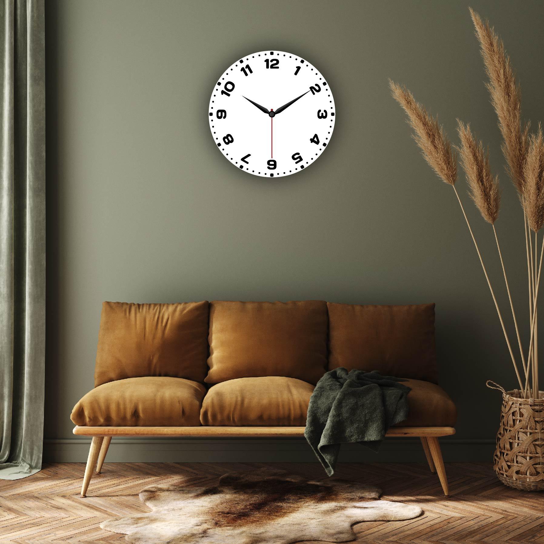 Dijital Baskılı Dekoratif Mdf Duvar Saati Model-106