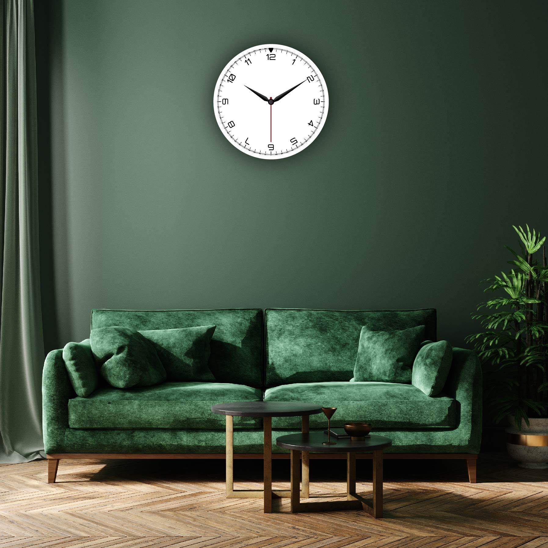 Dijital Baskılı Dekoratif Mdf Duvar Saati Model-107