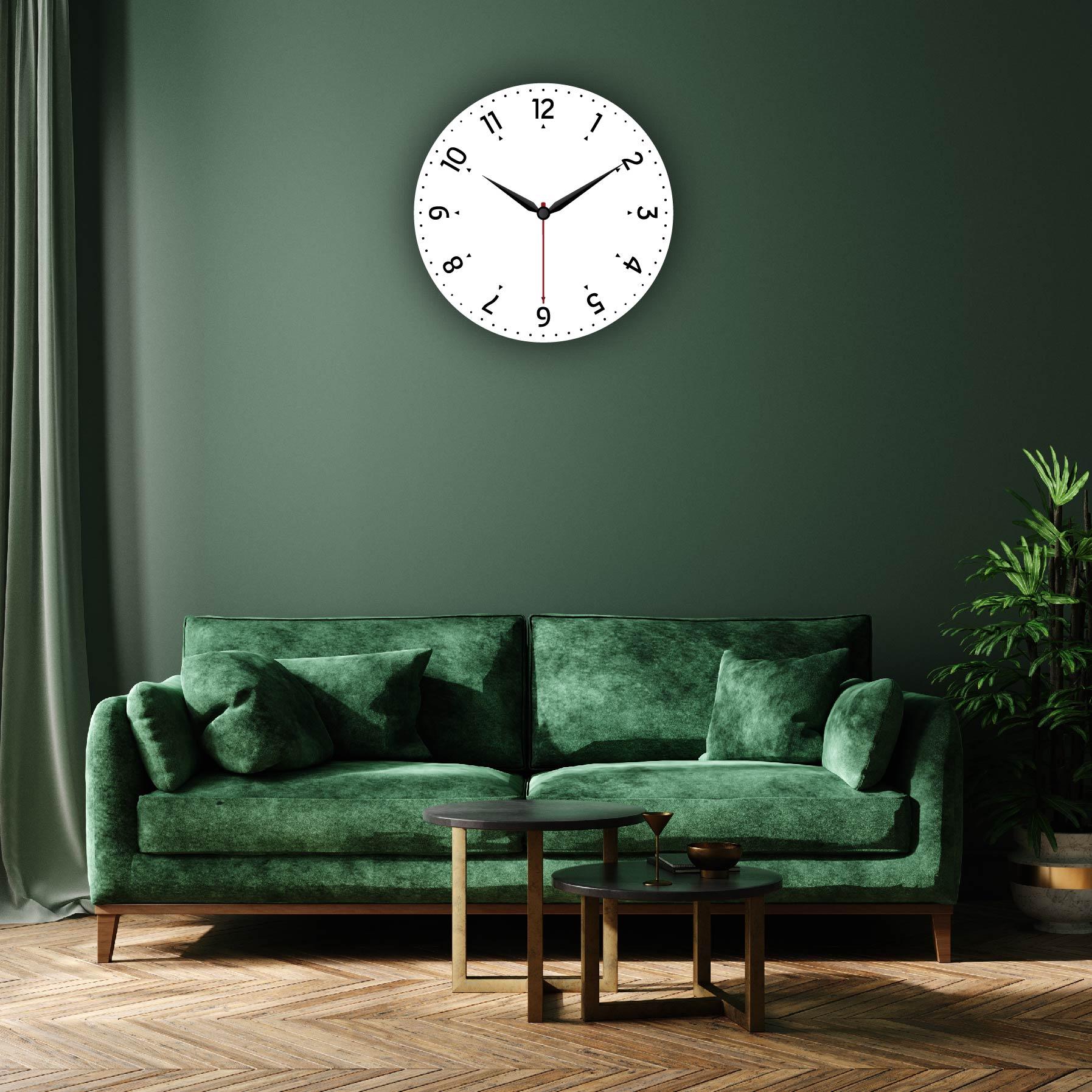 Dijital Baskılı Dekoratif Mdf Duvar Saati Model-108