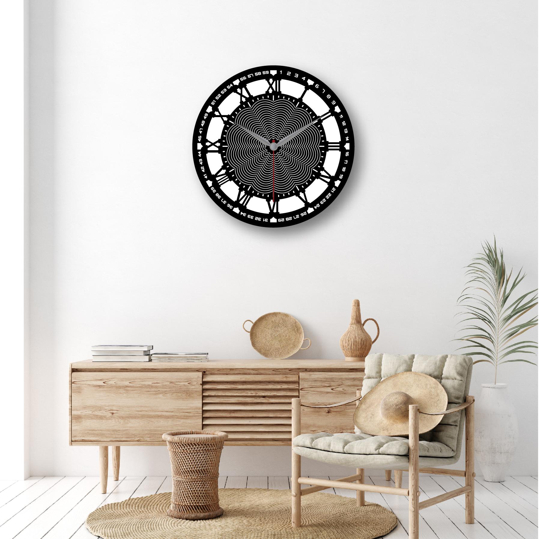 Dijital Baskılı Dekoratif Mdf Duvar Saati Model-10