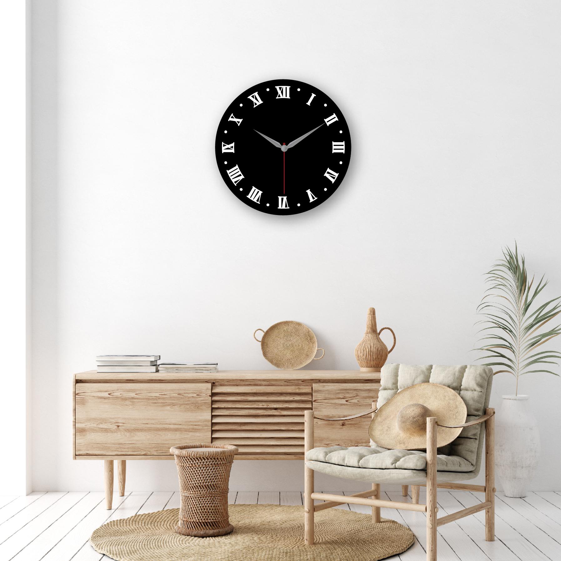 Dijital Baskılı Dekoratif Mdf Duvar Saati Model-1